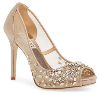 Badgley Mischka Pepper Peep Toe Pump