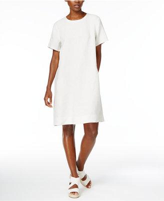 Eileen Fisher Organic Linen Shift Dress $218 thestylecure.com