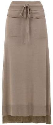 M·A·C Mara Mac long knitted skirt