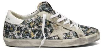 Golden Goose Superstar Glitter Leopard Low Top Trainers - Womens - Leopard