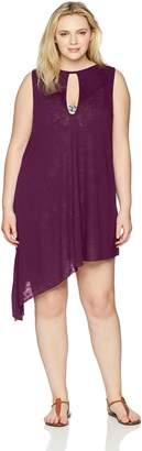 Becca Etc Women's Plus Size Breezy Basics Keyhole Dress Cover up