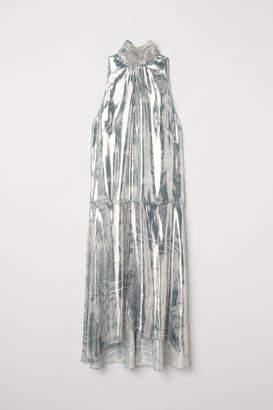 H&M Lyocell and Silk Dress - Gray