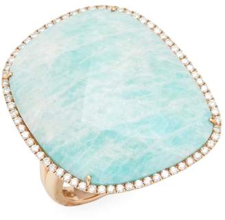 Meira T Women's Rose Gold Amazonite Ring
