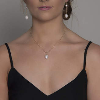 Lulu + Belle Gold Or Silver Large Single Pearl Necklace