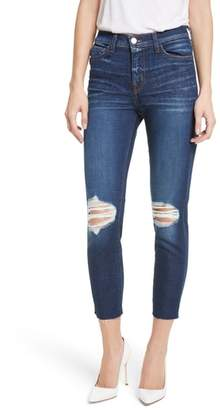 L'Agence Abigail French Slim Ripped Skinny Jeans