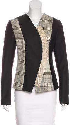 Proenza Schouler Snakeskin and Leather-Paneled Jacket