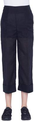 Akris Square Ajoure Crop Pants