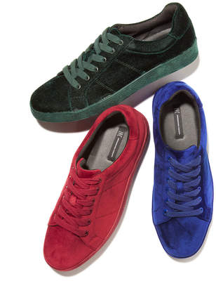 INC International Concepts I.n.c. Men Brogan Velvet Lace-Up Sneakers, Men Shoes