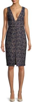 Keepsake Women's Plunging V-Neck Printed Dress