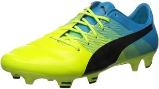 Puma Men's evoPOWER 1.3 FG Soccer Cleats, Safety Yellow/Black