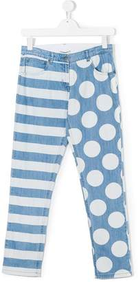 Stella McCartney Lohan Stripes & Dots jeans