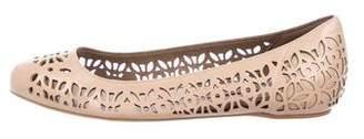 Stella McCartney Laser Cut Vegan Leather Flats