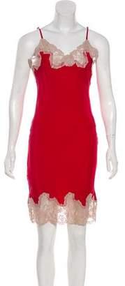Gold Hawk Sleeveless Silk Midi Dress