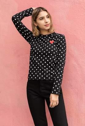 Comme des Garcons Women's Polka Dot L/S T-Shirt