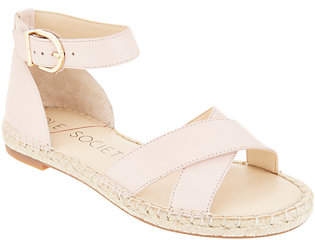 Sole Society Leather Ankle Strap EspadrilleSandals-Saundra