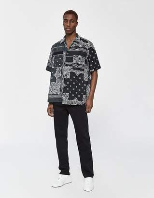 Sacai Bandana Print Button Up Shirt in Black