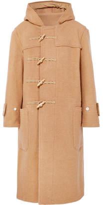 R 13 Oversized Hooded Wool Duffle Coat - Camel
