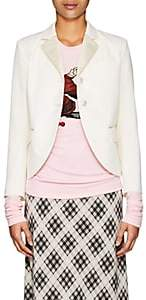 Marc Jacobs Women's Satin-Trimmed Wool Two-Button Blazer - Ivory