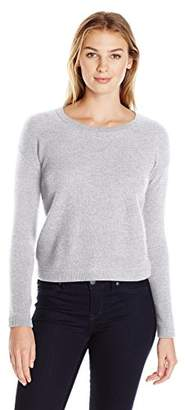Lark & Ro Women's 100% Cashmere Soft Honeycomb Stitch Crewneck Sweater