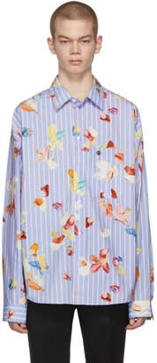 Acne Studios Bla Konst Blue and Pink Gianni Print Shirt