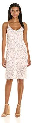 Lucca Couture Women's Floral Print Button Front Midi Slip Dress