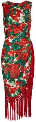 Dolce & Gabbana Short silk-blend dress