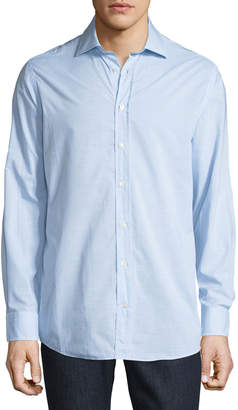 Luciano Barbera Men's Woven Sport Shirt