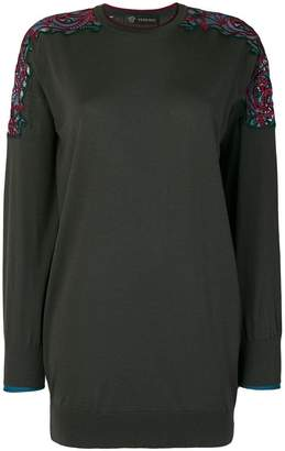 Versace shoulder detail top
