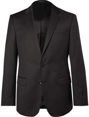 HUGO BOSS Black Hayes Slim-Fit Super 120s Virgin Wool Suit Jacket - Black