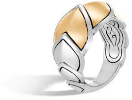 John Hardy Legends Naga 15mm 18k Gold Scale Ring, Size 6
