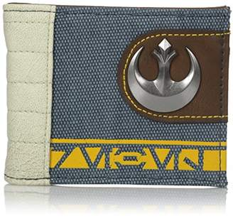 Bioworld Men's Star Wars Rogue One Rebel Mixed Material Bi-fold Wallet