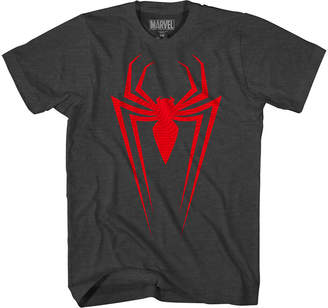 Spiderman Novelty T-Shirts Marvel Raised Graphic Tee