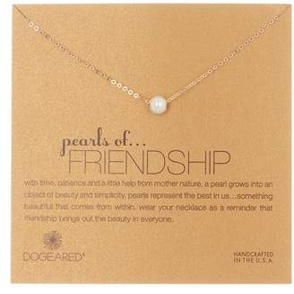 Dogeared 14K Gold Vermeil Imitation Pearls of Friendship Necklace