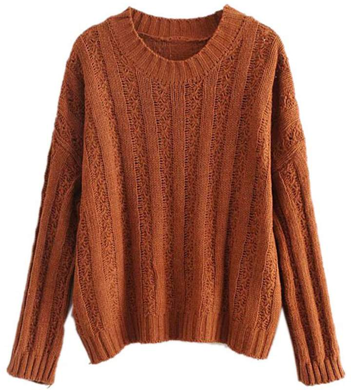 Goodnight Macaroon 'Roxy' Rib-Knitted Crew Neck Sweater (3 Colors)
