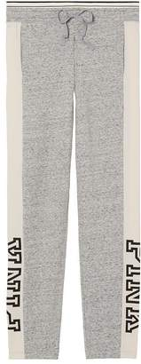 Victoria's Secret Pink Pink Straight Leg Pant Color Gray/Off White Nwt