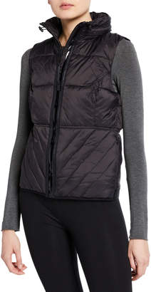 Marc Ny Performance Zip-Front Logo Band Packable Vest