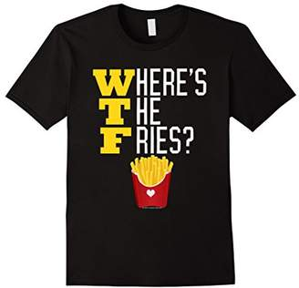 Junk Food Clothing Where's the French Fries WTF Funny Meme T-Shirt