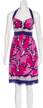 Nicole Miller Printed Halter Dress