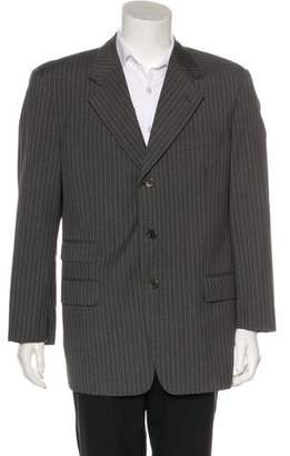 Valentino Striped Virgin Wool Blazer