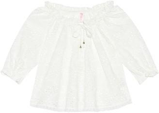 Zimmermann Kids Juniper cotton long sleeve top