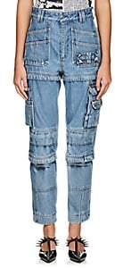 Balenciaga Women's Convertible Cargo Jeans-Lt. Blue