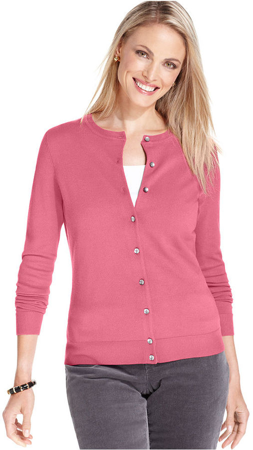 Charter Club Sweater, Long Sleeve Classic Cardigan