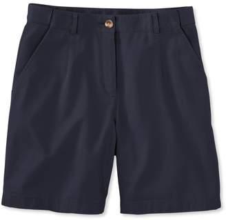 "L.L. Bean L.L.Bean Women's Wrinkle-Free Bayside Shorts, Classic Fit Hidden Comfort Waist 7"""