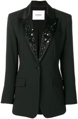 Dondup embellished lapel blazer
