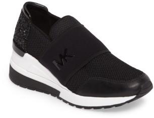 Women's Michael Michael Kors Felix Slip-On Glitter Sneaker $144.95 thestylecure.com