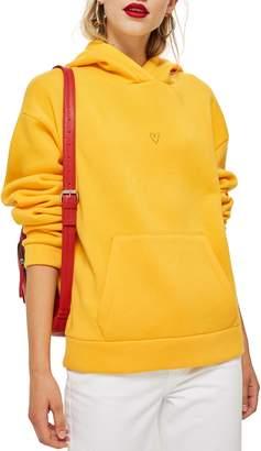 Topshop Heart Hoodie Sweatshirt