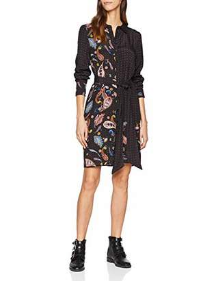 43a1ef0b982 at Amazon.co.uk · Warehouse Women's Cutabout Paisley Shirt Paisley Long  Sleeve Dress,(Manufacturer Size:)