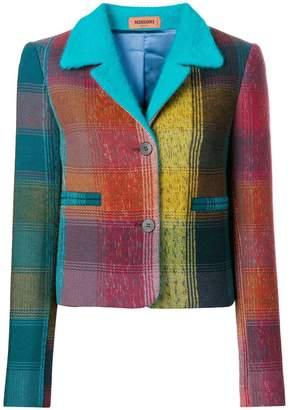 Missoni fitted tartan jacket