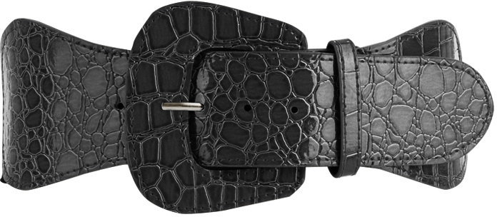 Style deals Embossed Faux Croco Belt