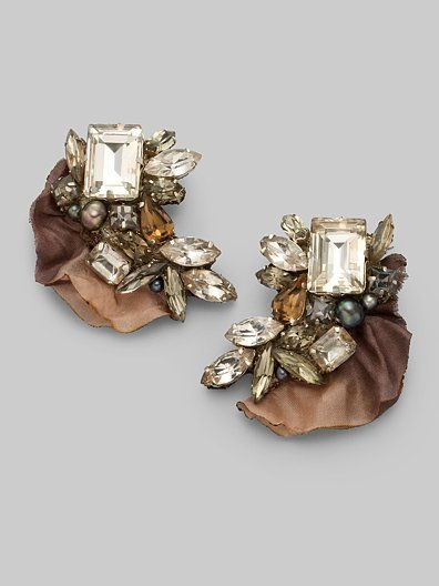 Ranjana Khan Beaded Cluster Earrings